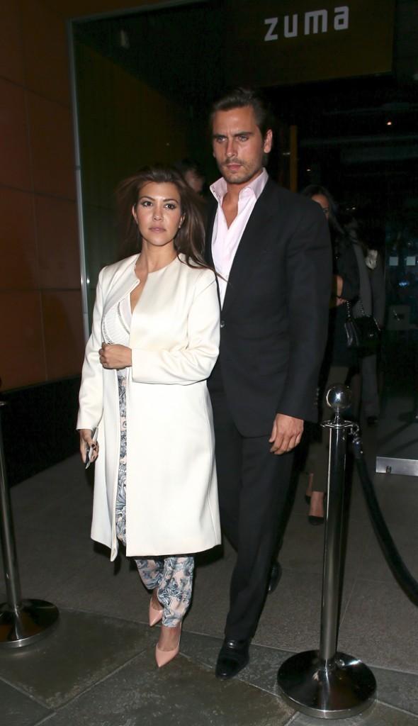 Kourtney Kardashian et Scott Disick le 10 novembre 2012 à Londres