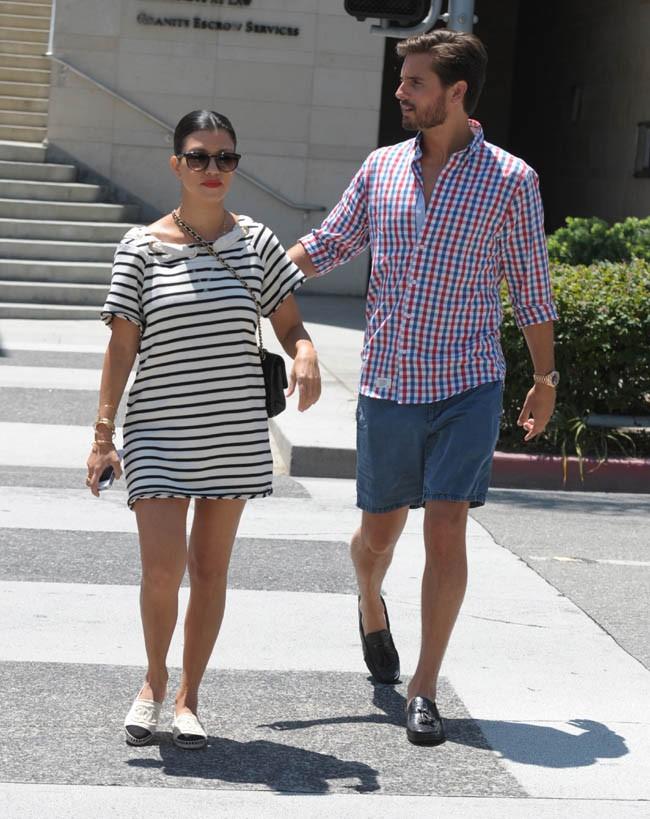 Kourtney Kardashian et Scott Disick à Beverly Hills le 7 août 2013