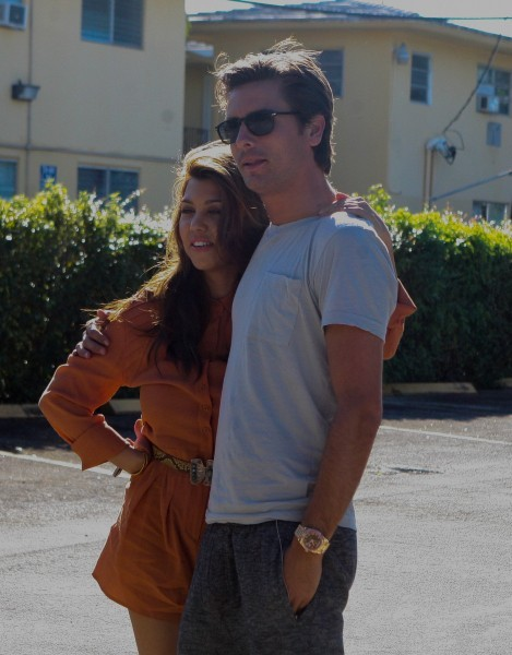 Kourtney Kardashian et Scott Disick à Miami, le 29 octobre 2012.