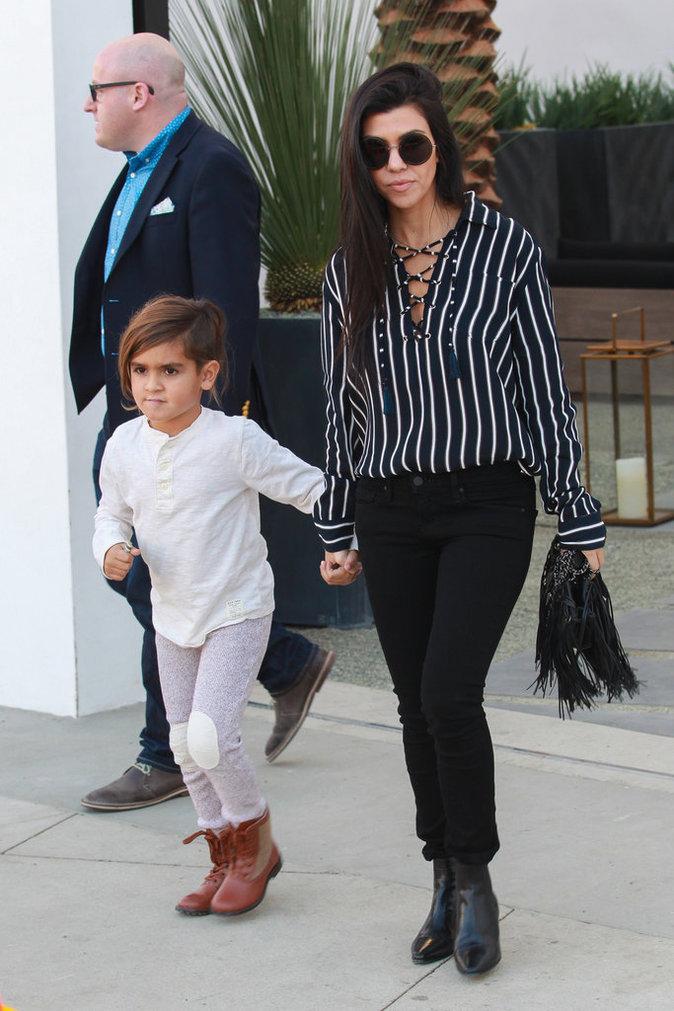 Kourtney Kardashian, Scott et Mason Disick le 27 novembre 2016