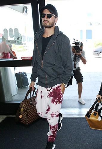 Scott Disick à l'aéroport de Los Angeles le 10 mai 2014