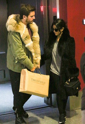 Kourtney Kardashian et Scott Disick à Los Angeles le 24 février 2014
