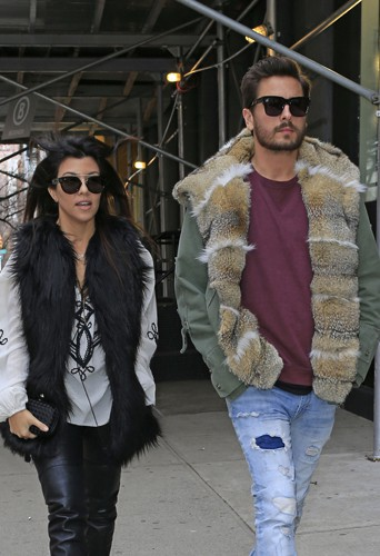Kourtney Kardashian et Scott Disick à New-York le 24 février 2014