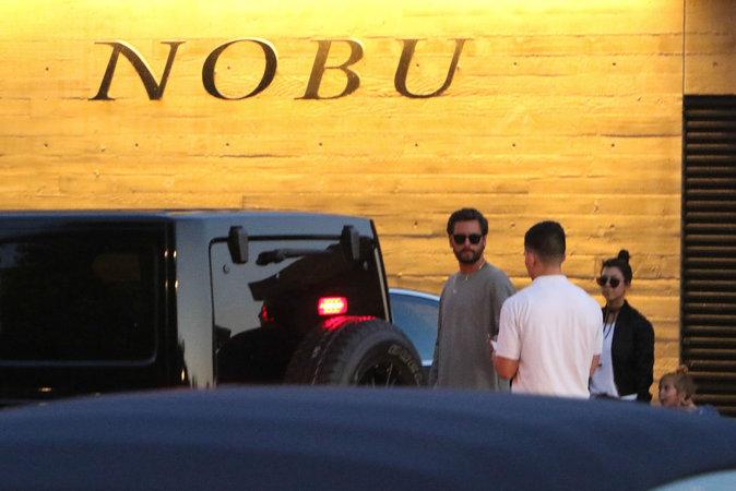 Kourtney Kardashian et Scott Disick au restaurant Nobu ce samedi 20 août 2016