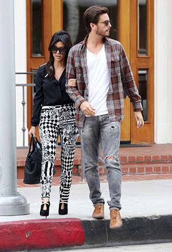 Kourtney Kardashian et Scott Disick à Los Angeles le 12 novembre 2013