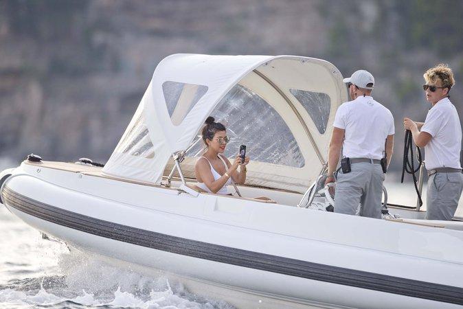 Kourtney Kardashian à Positano (Italie) le 3 septembre 2016
