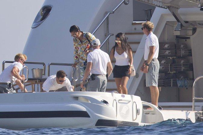 Kourtney Kardashian, Kris Jenner et Corey Gamble à Positano (Italie) le 3 septembre 2016
