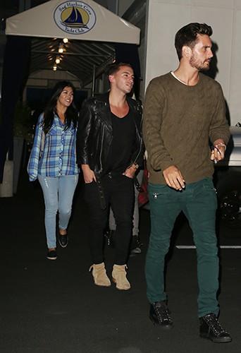 Scott Disick et Kourtney Kardashian dans les Hamptons le 4 juin 2014
