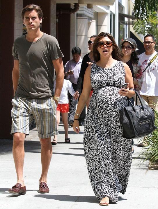 Kourtney Kardashian et Scott Disick à Bevrly Hills le 2 juillet 2012