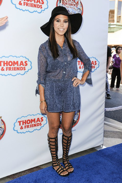 """Kourtney Kardashian à l'avant-première de """"Thomas & Friends : King Of The Railway"""" à Los Angeles le 15 septembre 2013"""