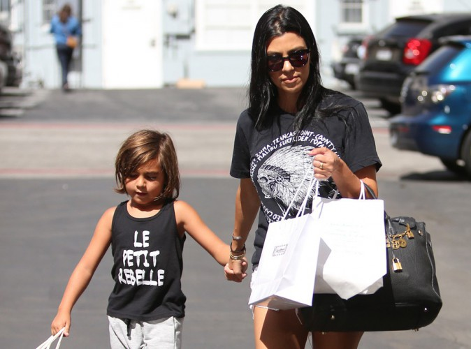 Kourtney Kardashian et Mason à Beverly Hills