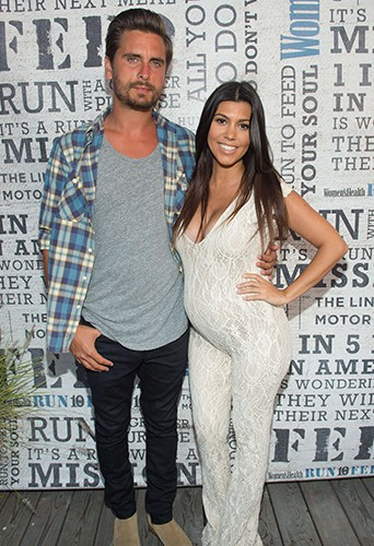 Scott Disick et Kourtney Kardashian à Bridgehampton le 9 août 2014