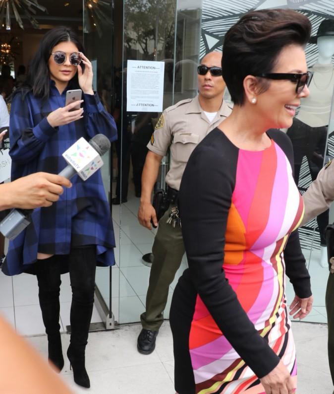Kris et Kylie Jenner : Duo mère/fille stylé pour soutenir Kim !