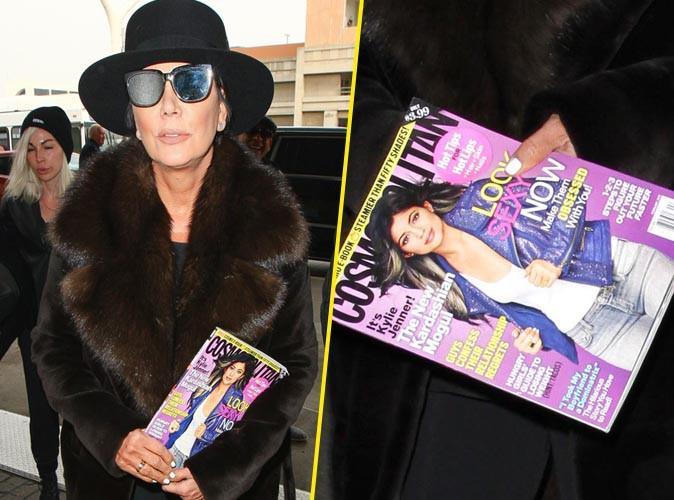 Kris Jenner : elle fait la pub de Kylie à l'aéroport !