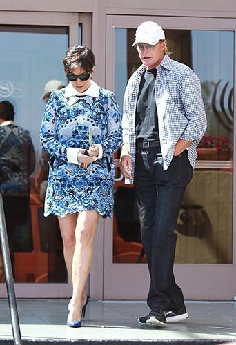Kris et Bruce Jenner à Los Angeles le 20 avril 2014