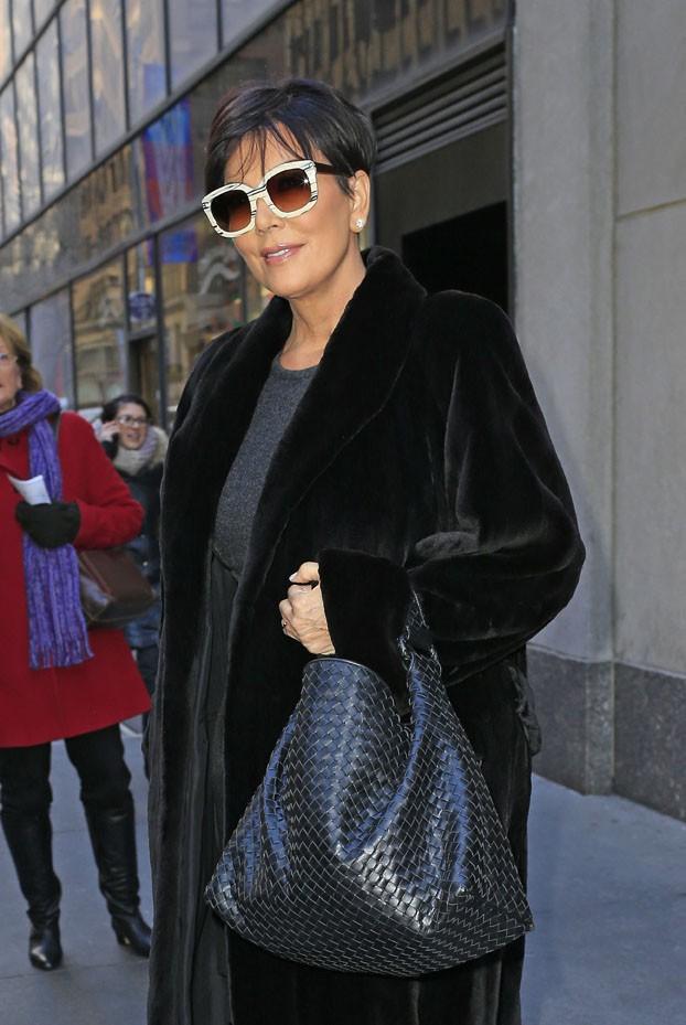 Kris Jenner à New-York le 9 janvier 2014