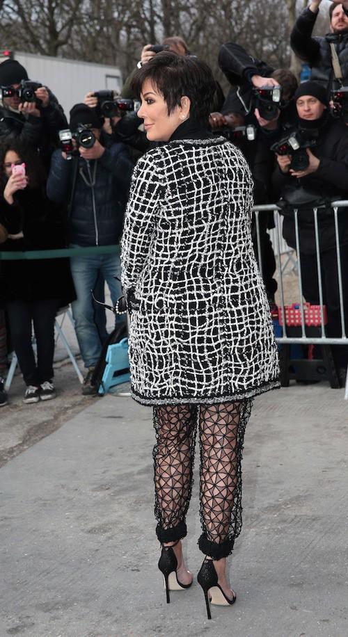 Photos : Kris Jenner : tenue osée pour voir Kendall défiler chez Chanel !