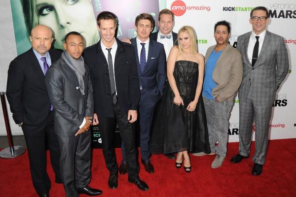"""L'équipe du film """"Veronica Mars"""" lors de la première à New York, le 10 mars 2014."""