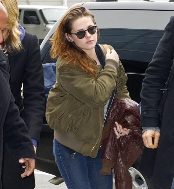 Kristen Stewart à l'aéroport de New-York le 12 janvier 2013