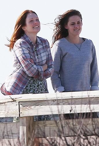 Julianne Moore et Kristen Stewart à New York le 21 mars 2014