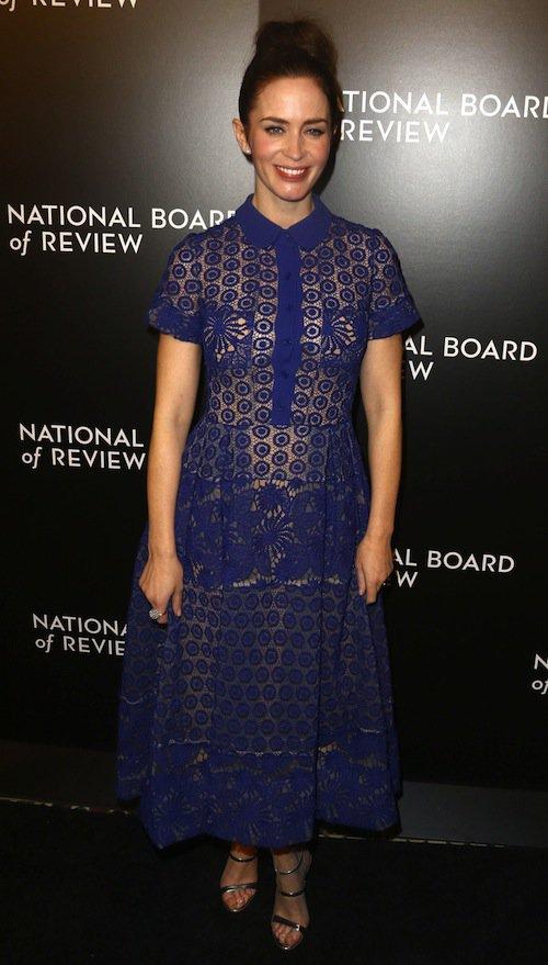 Emily Blunt à New York, le 5 janvier 2016