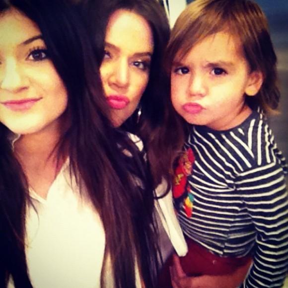 Mason, Khloé et Kylie