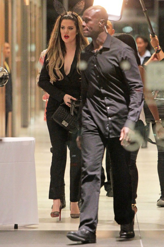 Khloé Kardashian à la fête d'anniversaire de Kylie organisée à Los Angeles le 17 août 2013