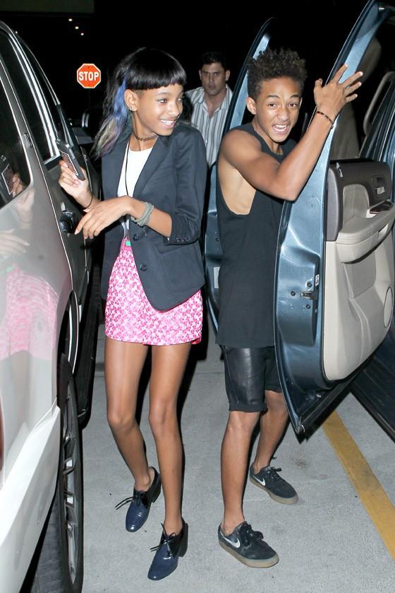 Willow et Jaden Smith à la fête d'anniversaire de Kylie organisée à Los Angeles le 17 août 2013