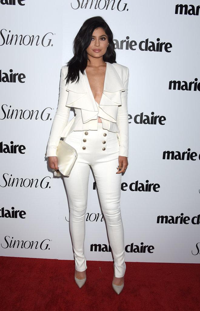 Kylie Jenner à la soirée Marie Claire ce lundi 11 avril 2016