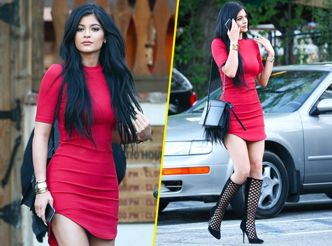 Photos kylie jenner mini robe echancree pour affoler for Kylie jenner robe