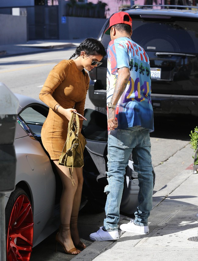 Kylie Jenner et Tyga à Curver City le 29 septembre 2015