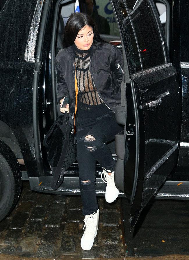 Kylie Jenner à New-York le 10 novembre 2015