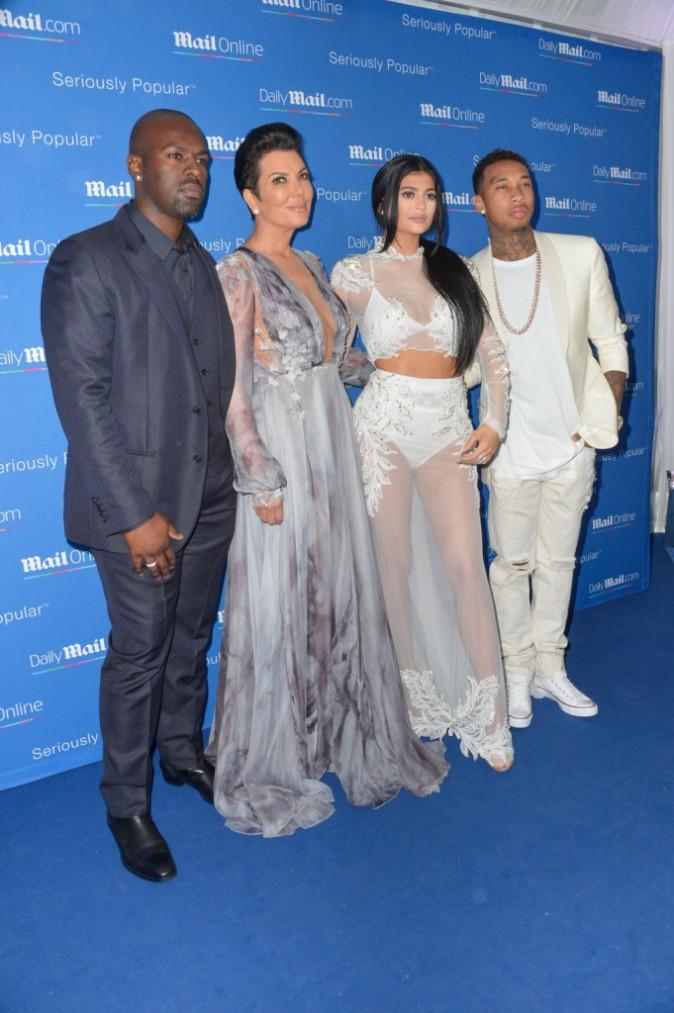 Kylie et Kris Jenner, Corey Gamble et Tyga le 24 juin 2015