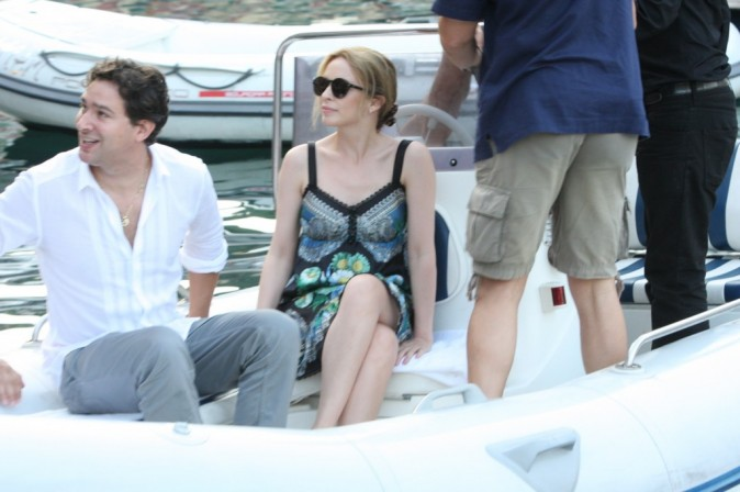 Kylie Minogue en vacances à Portofino, le 15 août 2011.