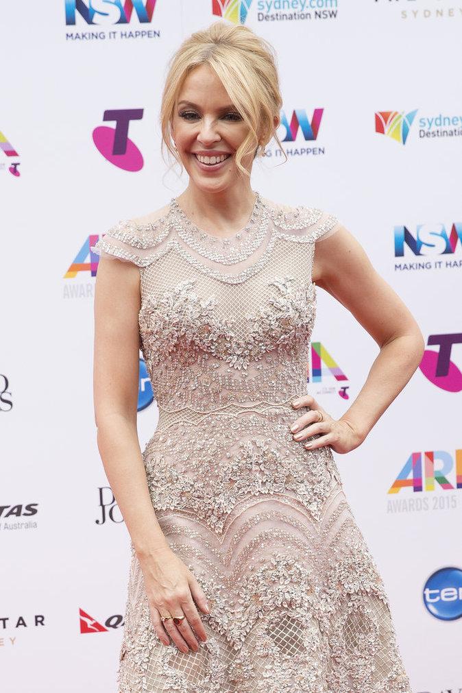 Kylie Minogue le 25 novembre 2015