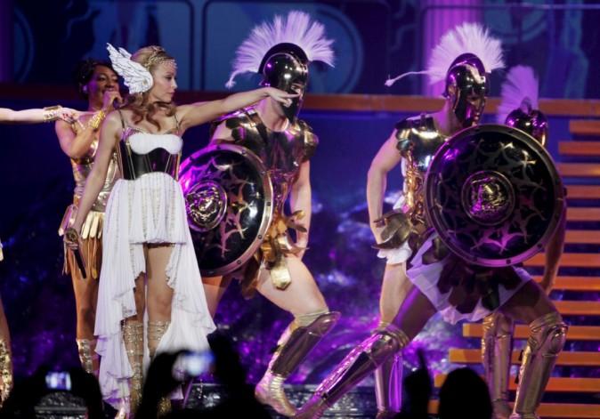 Avec ses copains gladiateurs !