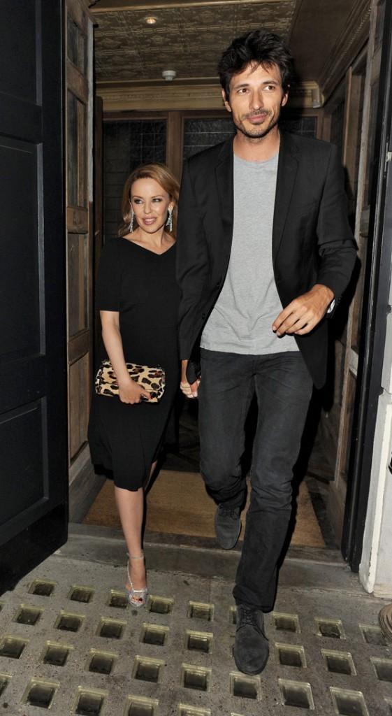 Kylie Minogue et Andres Velencoso le 18 septembre 2012 à Londres