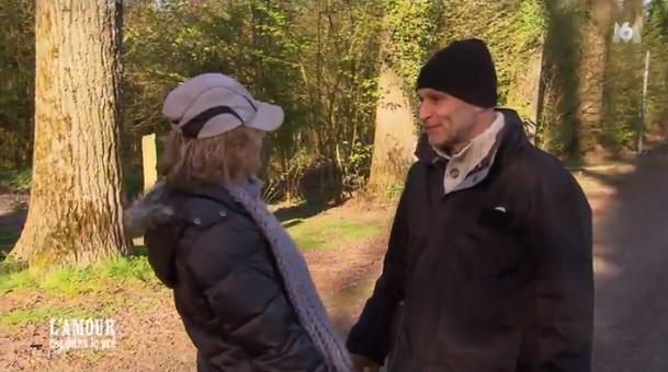 Moment d'intimité pour Didier et Nathalie...