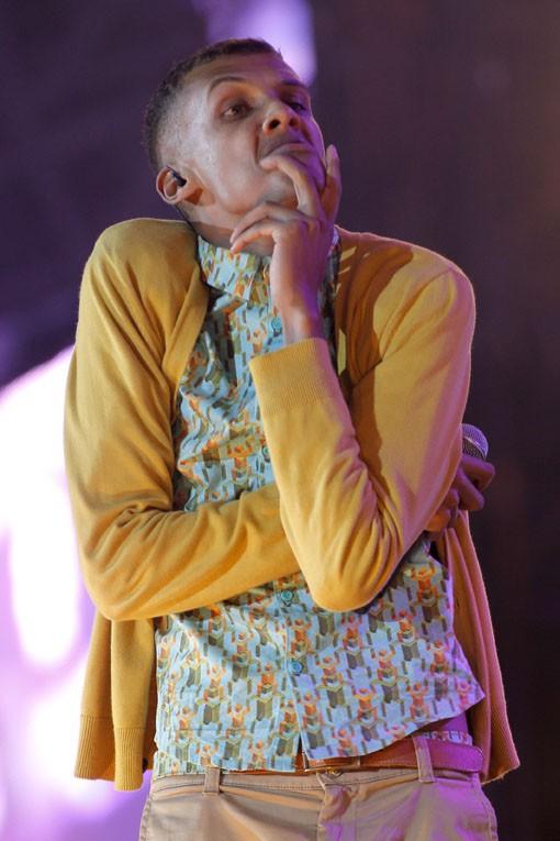 Stromae au concert Urban Peace 3 organisé au Stade de France le 28 septembre 2013
