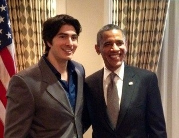 Brandon Routh et Barack