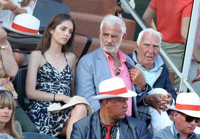 Annabelle Belmondo et son grand-père