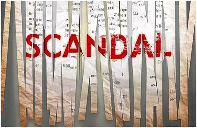 Le logo de la série Scandal !