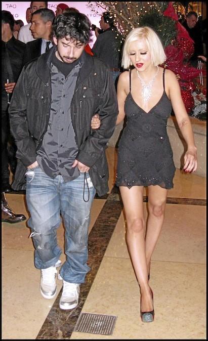 Christina Aguilera et Jordan Bartman en 2010