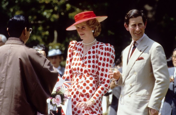 Lady Diana et Charles le 01/01/1986
