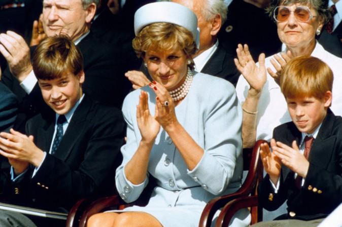 Lady Diana et ses enfants le 8 mai 1995