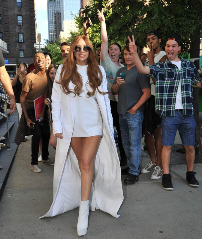 Lady Gaga s'apprête à participer à Good Morning America, à New York