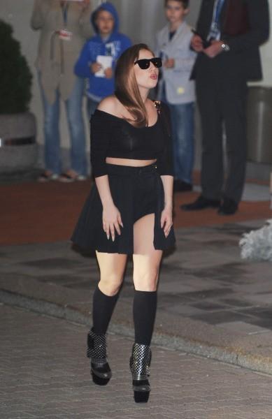 Gaga et ses cheveux Louis Vuitton
