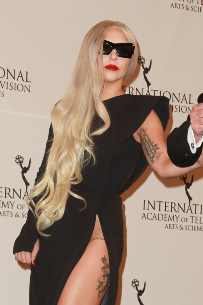 Lady Gaga lors de la soirée International Emmy Awards à New York, le 21 novembre 2011.