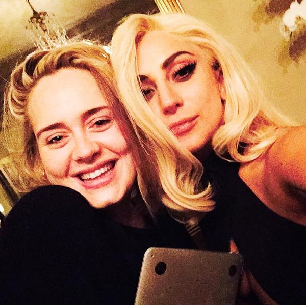 Photos : Lady Gaga : complice avec Adele, la collaboration se confirme ?