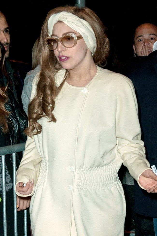 Lady Gaga le 19 septembre 2012 à Amsterdam
